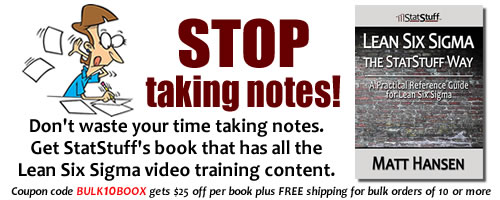 Stop taking notes! Instead of wasting time taking notes, get the book with the complete LSS training content.